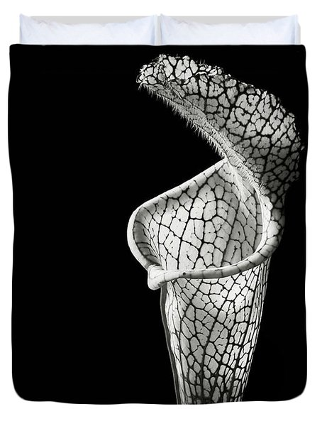 Cobra Lily In Black And White Duvet Cover