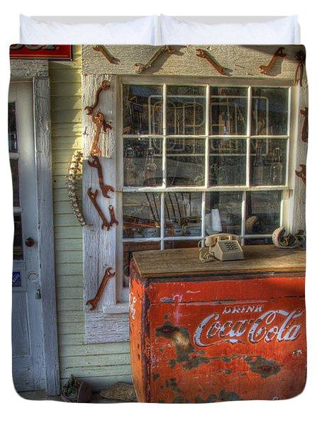 Coca Cola Cooler Randsburg Duvet Cover by Bob Christopher