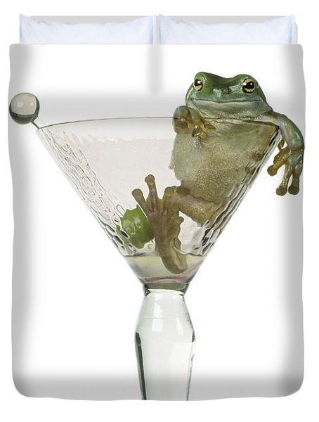 Cocktail Frog Duvet Cover by Darwin Wiggett