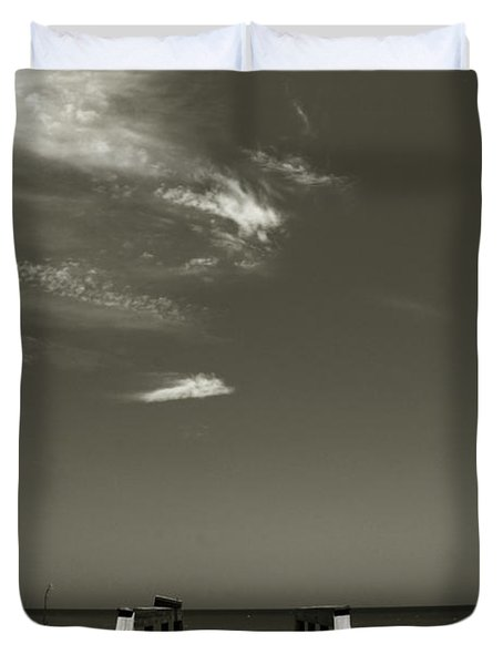 Coconut Point Beach Fl Duvet Cover by Susanne Van Hulst