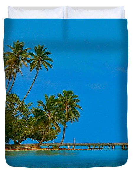 Duvet Cover featuring the photograph Coconuts Anyone by Eric Tressler