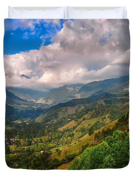 Cocora Valley Duvet Cover by Skip Hunt
