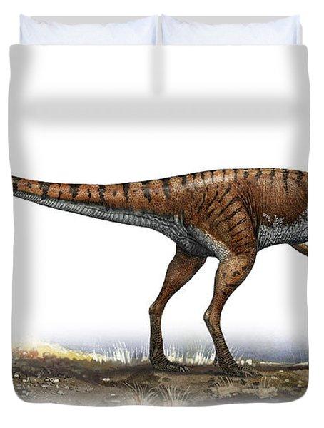 Coelophysis Bauri, A Prehistoric Era Duvet Cover by Sergey Krasovskiy