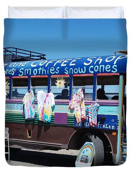 Coffee Bus Duvet Cover by Dany Lison