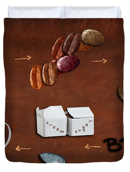 Coffee Deconstructed Duvet Cover