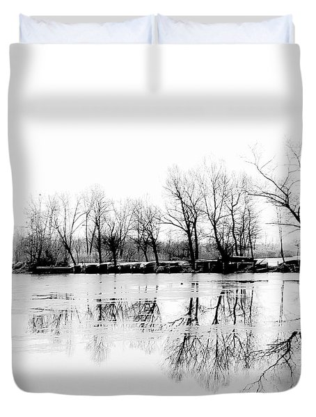 Cold Silence Duvet Cover by Hannes Cmarits