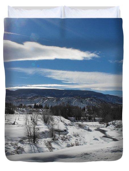 Cold Sun Duvet Cover by Adam Cornelison