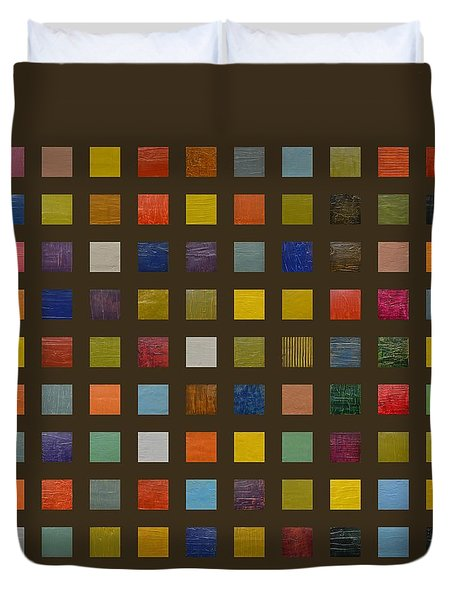 Collage Color Study Lll Duvet Cover by Michelle Calkins
