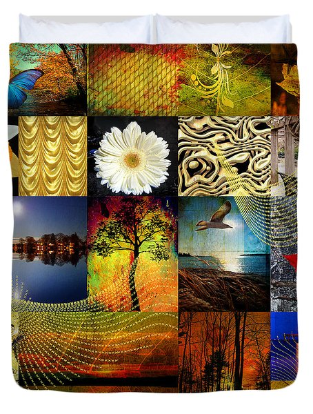 Collage Of Colors Duvet Cover by Mark Ashkenazi