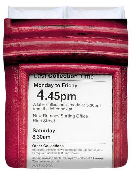 Collection Time 4.45 Pm Duvet Cover by Heiko Koehrer-Wagner