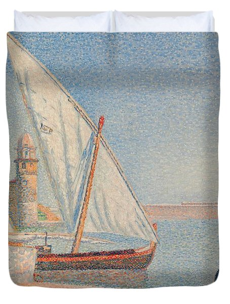 Collioure Les Balancelles Duvet Cover by Paul Signac