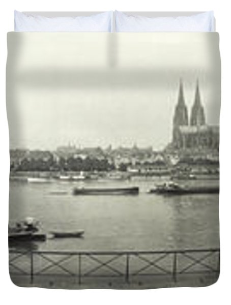 Cologne - Germany - C. 1921 Duvet Cover by International  Images