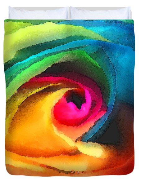 Color Launch Duvet Cover by ME Kozdron