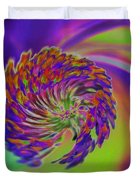 Duvet Cover featuring the photograph Color Splash by Cindy Manero