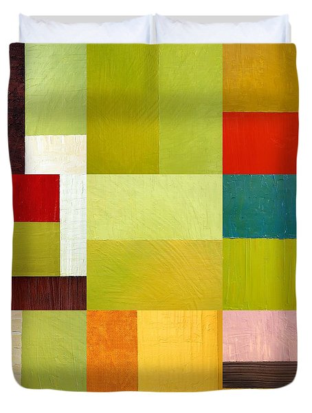 Color Study Abstract 9.0 Duvet Cover by Michelle Calkins