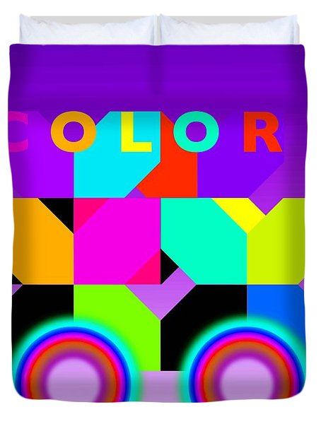 Color Wheels Duvet Cover