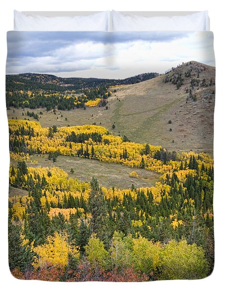 Colorado Autumn Aspens Colors Duvet Cover by James BO  Insogna