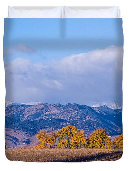 Colorado Autumn Morning Scenic View Duvet Cover by James BO  Insogna
