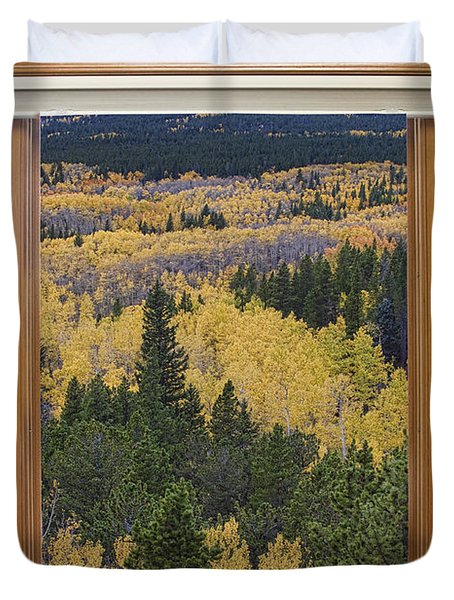 Colorado Autumn Picture Window Frame Art Photos Duvet Cover by James BO  Insogna