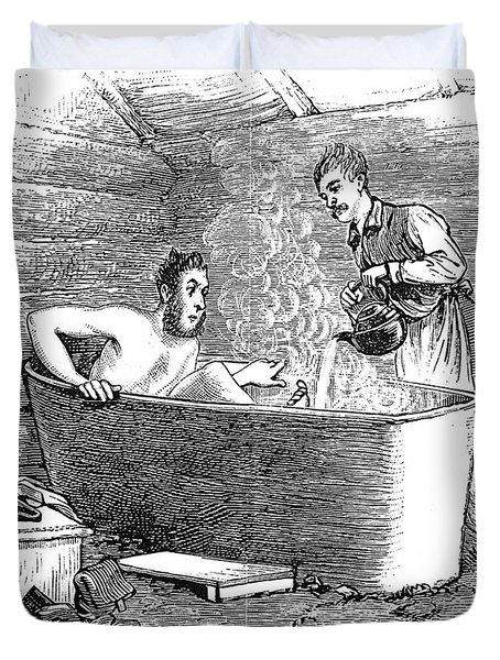 Colorado Bathhouse, 1879 Duvet Cover