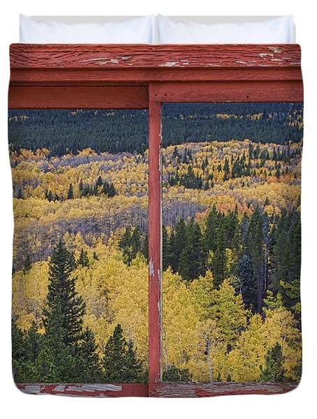 Colorado Red Rustic Picture Window Frame Photo Art Duvet Cover by James BO  Insogna