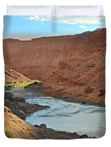 Colorado River Canyon 1 Duvet Cover by Marty Koch