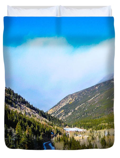 Duvet Cover featuring the photograph Colorado Road by Shannon Harrington