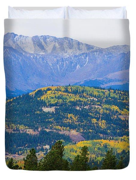 Colorado Rocky Mountain Autumn View Duvet Cover by James BO  Insogna