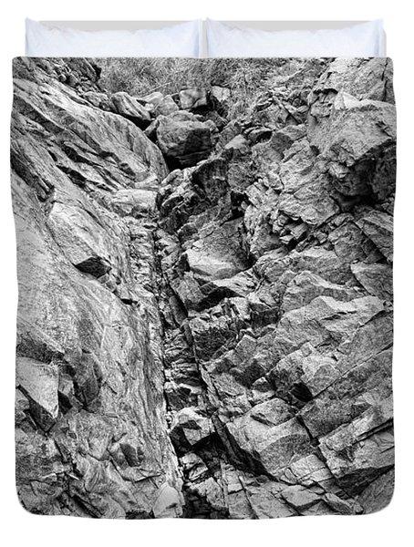 Colorado Rocky Mountain Black Gold Duvet Cover