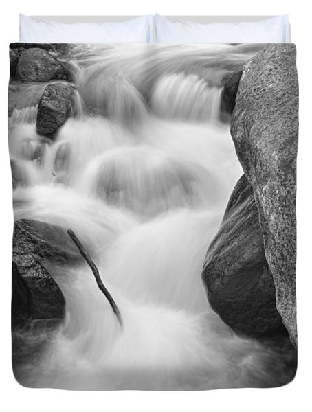 Colorado St Vrain River Trance Bw Duvet Cover by James BO  Insogna
