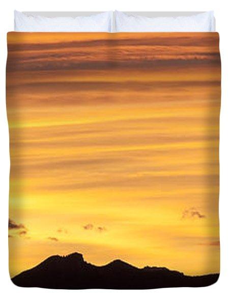 Colorado Sunrise Landscape Duvet Cover by Beth Riser