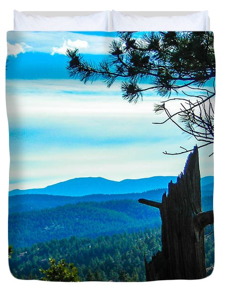 Duvet Cover featuring the photograph Colorado View by Shannon Harrington