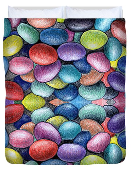 Colored Beans Design Duvet Cover by Nancy Mueller