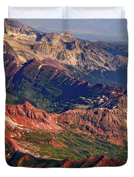 Colorful Colorado Rocky Mountains Planet Art Duvet Cover by James BO  Insogna
