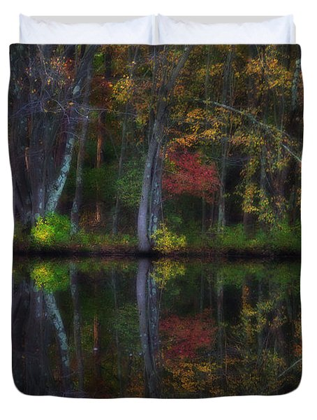 Colorful Forest Duvet Cover by Karol Livote