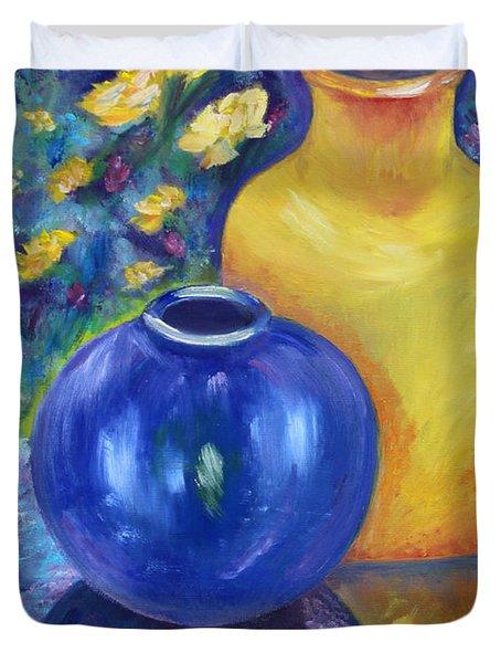 Colorful Jars Duvet Cover
