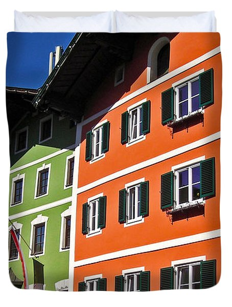 Colorful Kitzbuehel - Austria Duvet Cover by Juergen Weiss