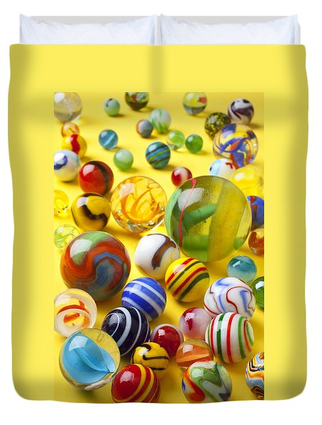 Colorful Marbles Duvet Cover by Garry Gay