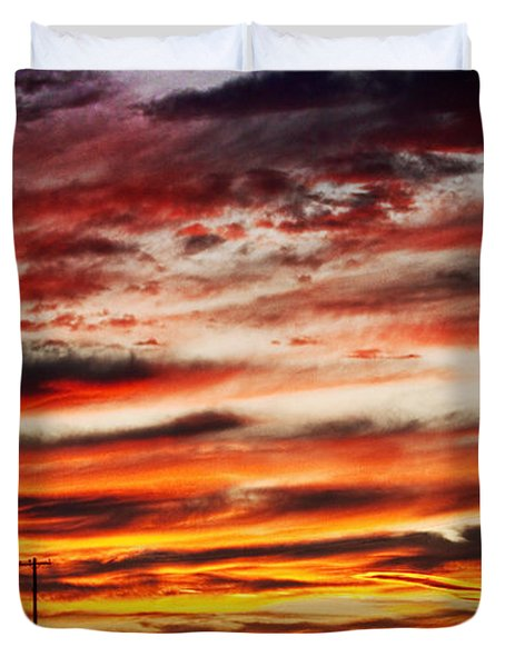 Colorful Rural Country Sunrise Duvet Cover by James BO  Insogna