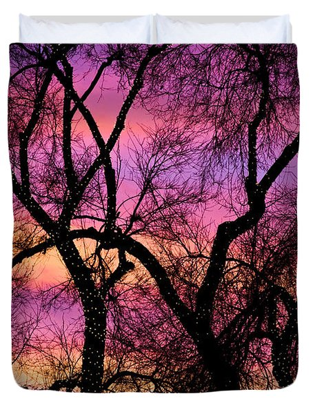 Colorful Silhouetted Trees 21 Duvet Cover by James BO  Insogna