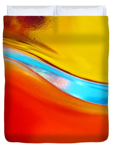 Colorful Wave Duvet Cover by Carlos Caetano