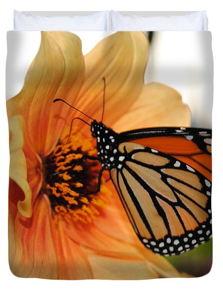 Duvet Cover featuring the photograph Colors In Sync by Michael Frank Jr