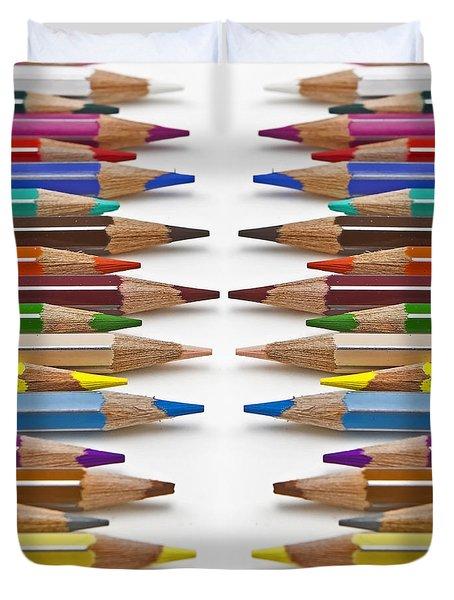 Coloured Pencil Duvet Cover by Joana Kruse