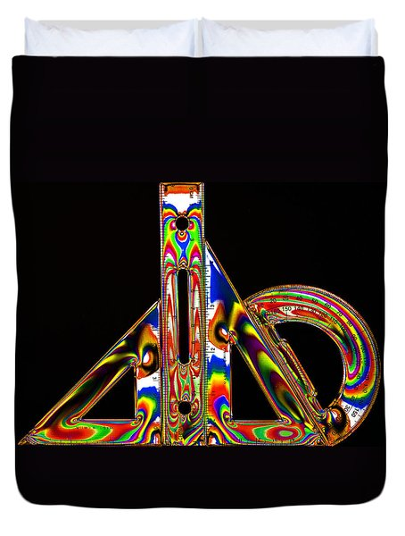 Duvet Cover featuring the photograph Colourful Geometry by Steve Purnell