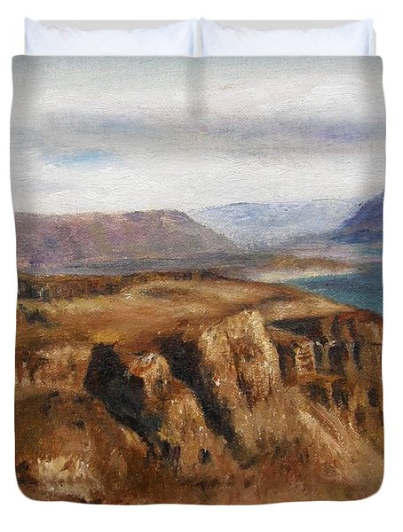 Columbia River Gorge I Duvet Cover
