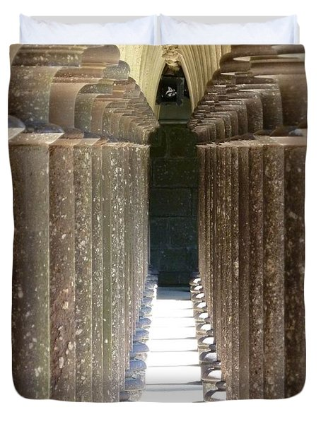 Columns Duvet Cover by Christine Huwer