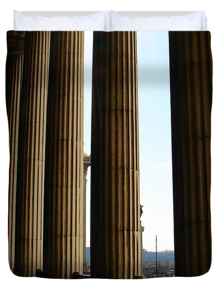 Columns Duvet Cover by Patrick Witz