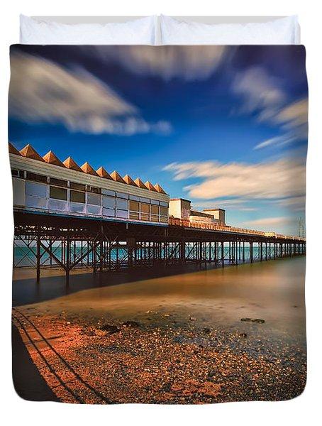 Colwyn Pier Duvet Cover by Adrian Evans