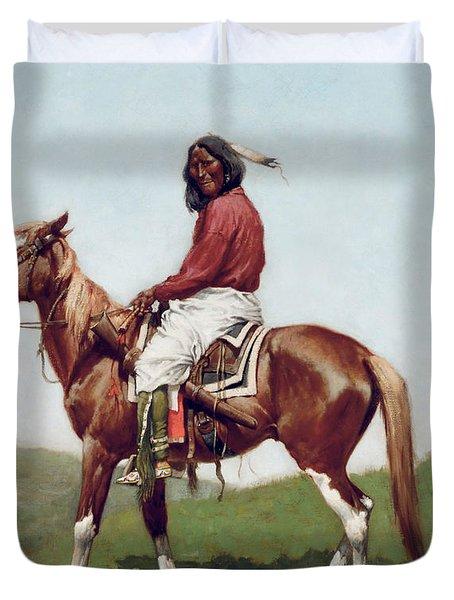 Comanche Brave Duvet Cover by Frederic Remington