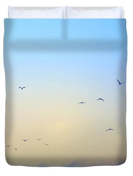 Come Fly With Me Duvet Cover by Bill Cannon